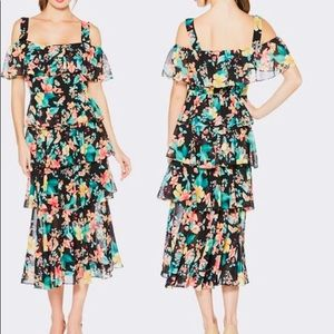 New Laundry by Shelli Segal Tiered Floral-Print